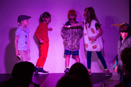 First Graders Connect Classroom Topics, Theater with Real World